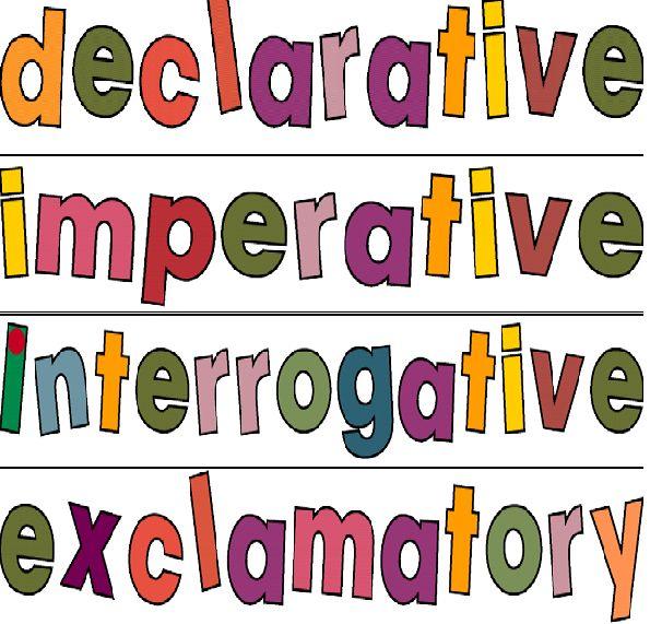 4 kinds of sentences declarative