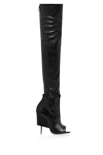 Narlia thigh boots in black leatherNarlia thigh boots in black leather #thighboots #covetme #givenchy