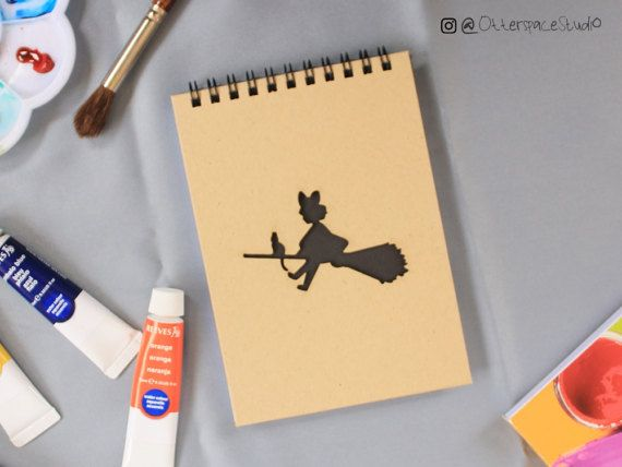 Studio Ghibli Theme Notebook  Kiki Spiral by OtterspaceStudio