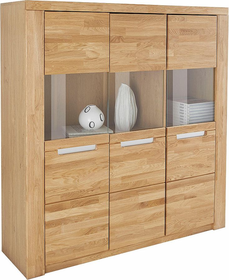 Highboard »Kolding«, Breite 140 cm mit 3 Glastüren Jetzt bestellen unter: https://moebel.ladendirekt.de/wohnzimmer/schraenke/highboards/?uid=7b133bc6-1714-5bd4-af57-7a71f40313bf&utm_source=pinterest&utm_medium=pin&utm_campaign=boards #highboards #schraenke #wohnzimmer