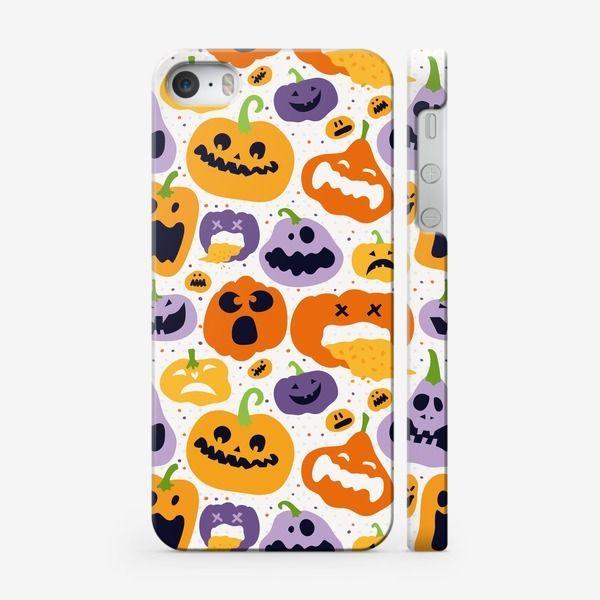 Чехол iPhone Тыквы, праздник Хэллоуин. Halloween., Автор: Марина Никифорова, Цена: 1000 р.