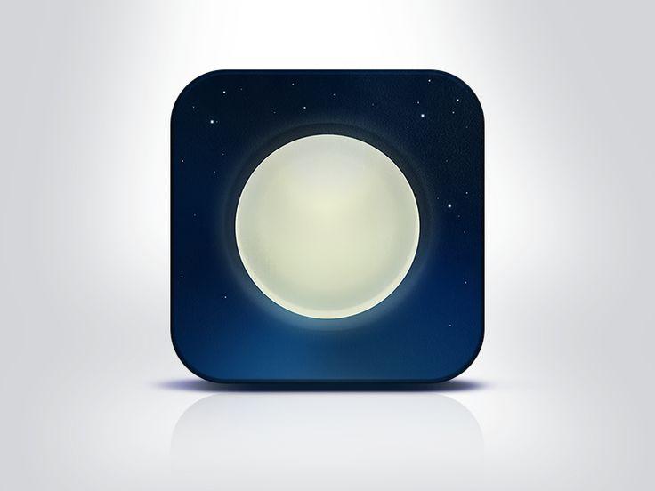 """iOs app icon – """"Nightly"""""""
