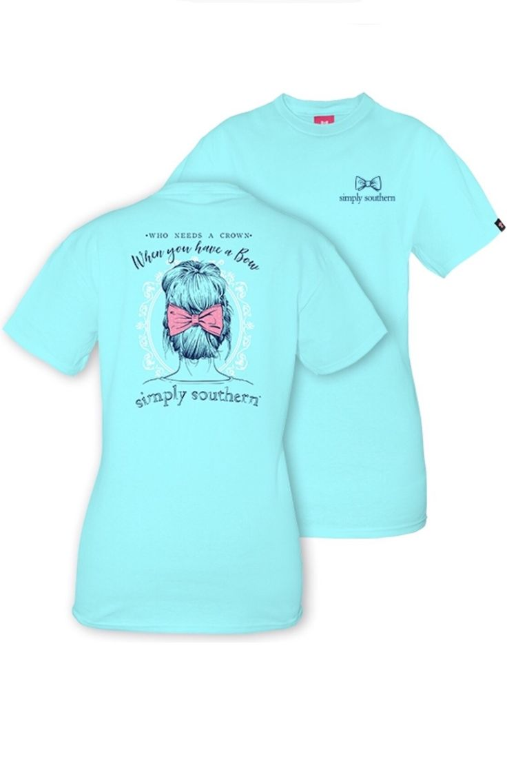 Simply Southern Bows Over Crowns Tee - Marine from Chocolate Shoe Boutique