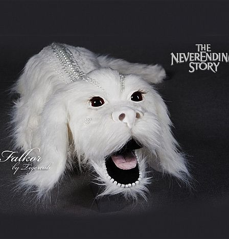 Handmade Amazing! Falcor the lucky dragon from the neverending story buy now handmade..