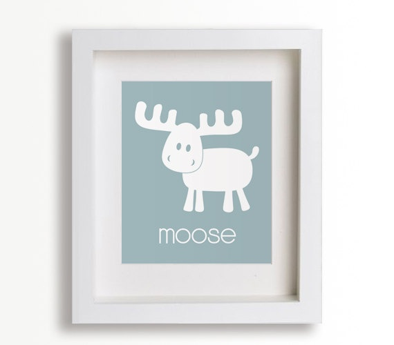 Baby's First Art Print  Moose 8x10  Nursery Decor by NikoAndLily, $14.95: Nurseries Decor, Kids Rooms Decor, Playrooms Decor, Kids Rooms Art, Art Prints, Art Kids, Nurseries Art, Nurseries Wall Art, Baby Nurseries