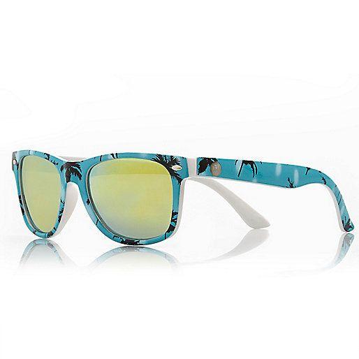 Boys blue palm tree print tinted sunglasses - sunglasses - accessories - boys
