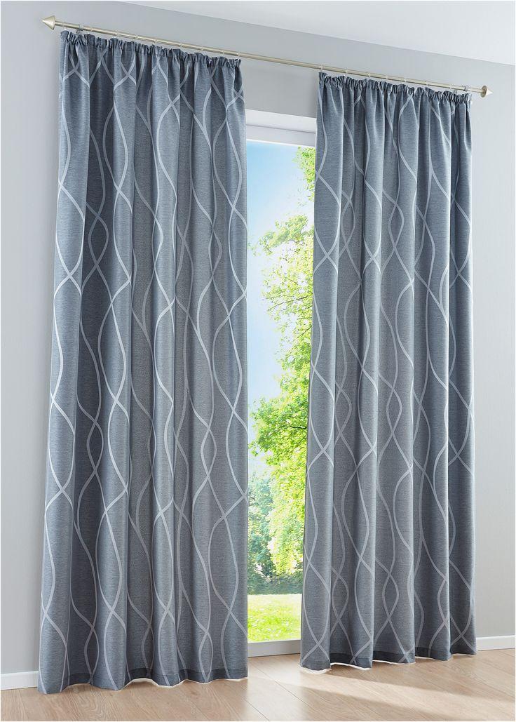"""Vorhang """"Finja"""" (1er-Pack), Kräuselband grau - bpc living jetzt im Online Shop von bonprix.de ab ? 14,99 bestellen. Außergewöhnlicher Vorhang aus ..."""