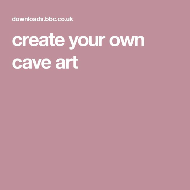 create your own cave art