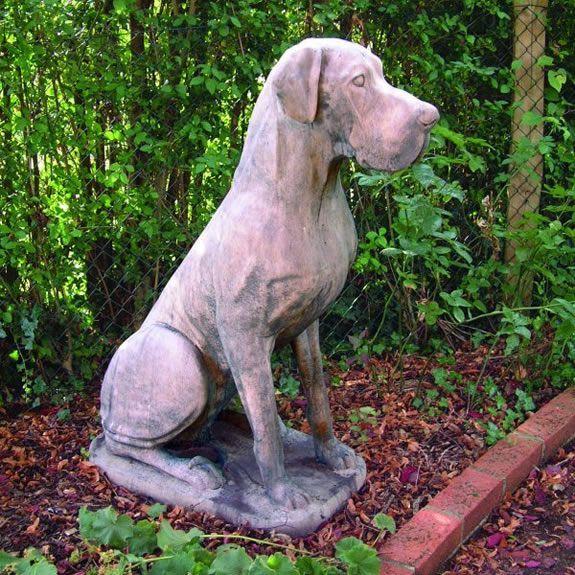 Great Dane Statue Male Garden Ornament Statue Garden Statues