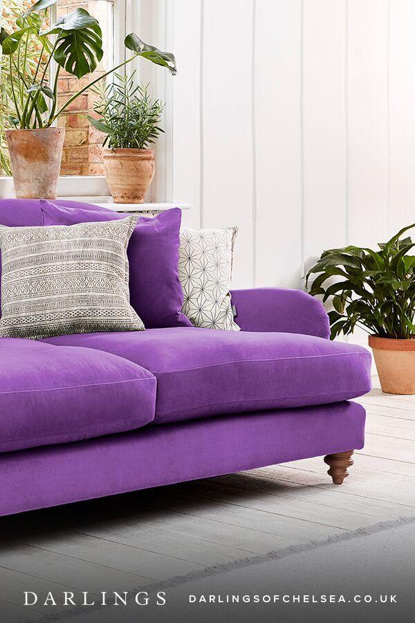 Luxury Purple Sofas Ideas Darlings Of Chelsea Sofa Purple Sofa Modern Leather Sofa