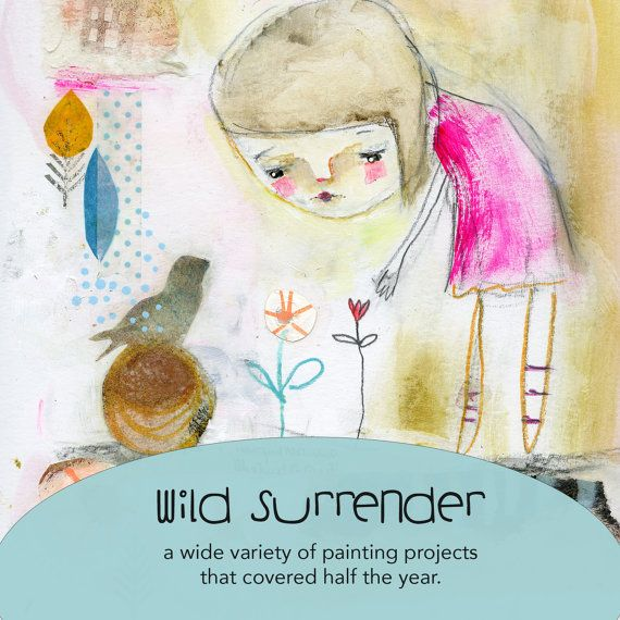 Wild Surrender  online class  by Mindy Lacefield by mindylacefield (Art & Collectibles, Mixed Media & Collage, timssally, online class, art, mixed media, painting, portrait, how to, tutorial, face, primitive, class, workshop, art class)