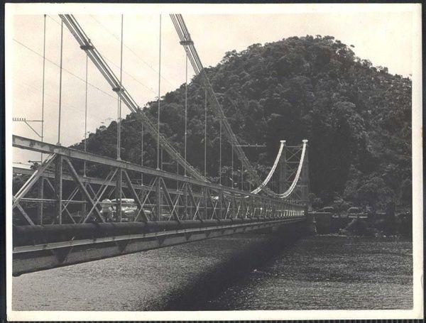 São Vicente - Ponte Pensil - Fotografia antiga original de Theodor Presing.