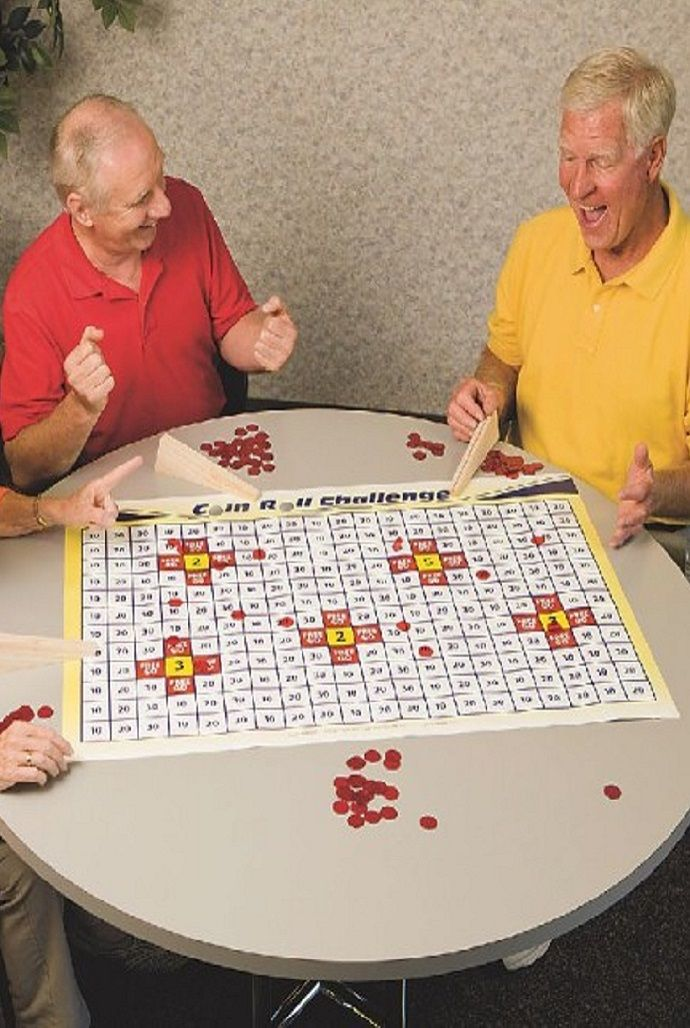 Games With A Ball For Senior Residents Of Nursing Home 46