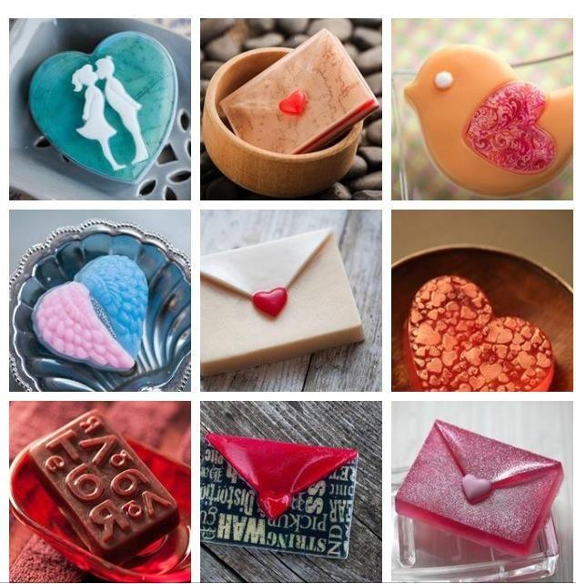 Различное мыло к праздникам в подарок Возможна любая расцветка и запах.