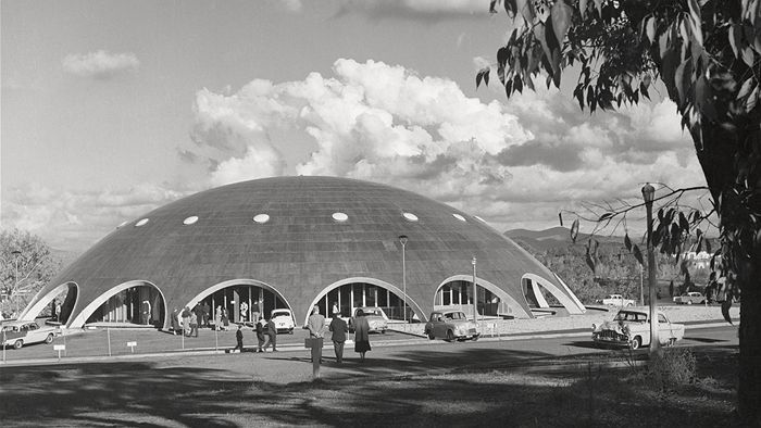 Academy of Science, #Canberra; as photographed by #MaxDupain, late 1950s.