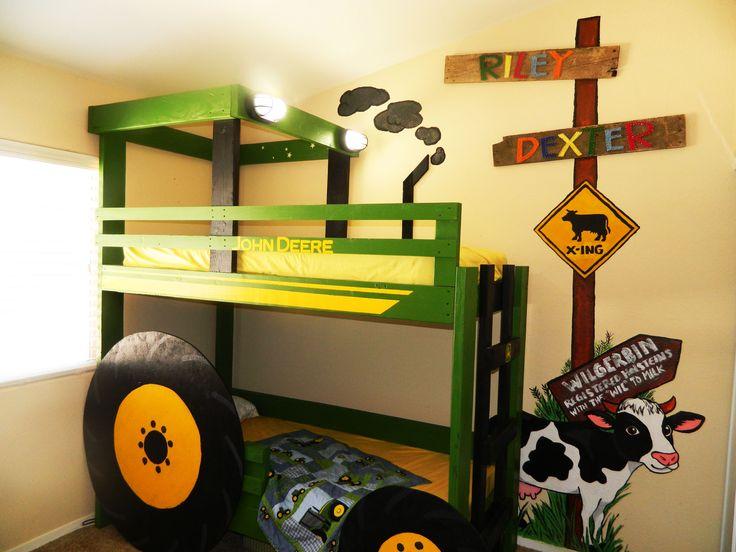John Deere Tractor Bunk Bed With Farm Mural Super Cute Kid Bedroom By Jenna Ashton A Las Vegas