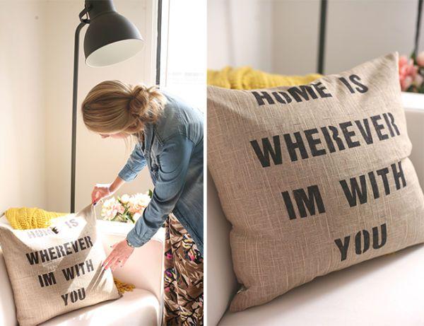 Esas frases que nos inspiran y que siempre recordamos son las que pueden decorar nuestra casa. Para realizar fundas de almohadones con citas se necesitan pocos elementos y también, pocos minutos. Una...