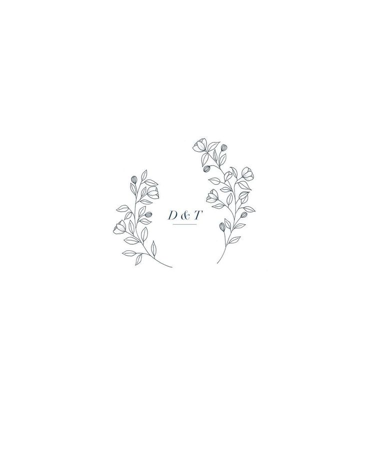A wedding monogram | neutral color palette | contemporary | graphic design inspiration | modern | simple | simplistic | black and white | typography | calligraphy | hand lettered | brush | quote | saying | logo | initial | floral | outline drawing