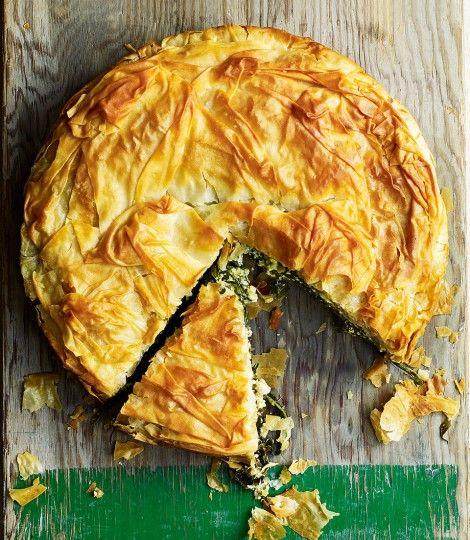 Wild-garlic-and-goats-cheese-pie
