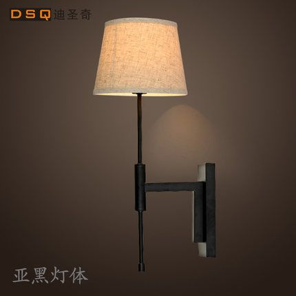 North American modern minimalist fashion bedroom bedside lamp wall lamp linen aisle project wall light