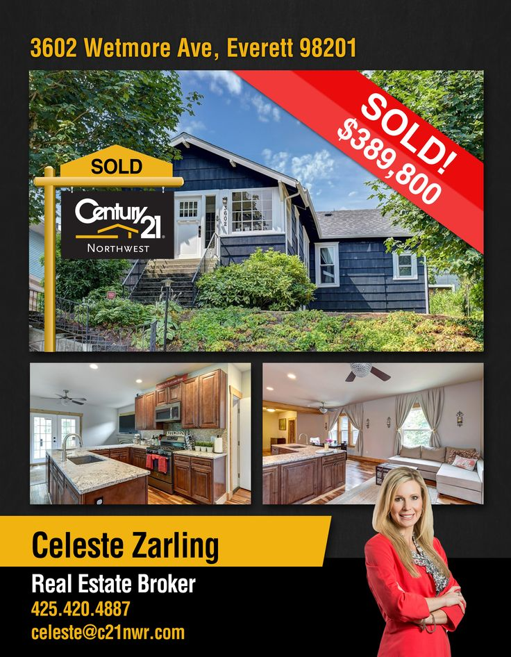#SOLD  Congratulations Celeste Zarling and to the new owners of Modern Updated Home with Mother in Law! Main level living features East facing sun room in #Everett  MLS # 1177428