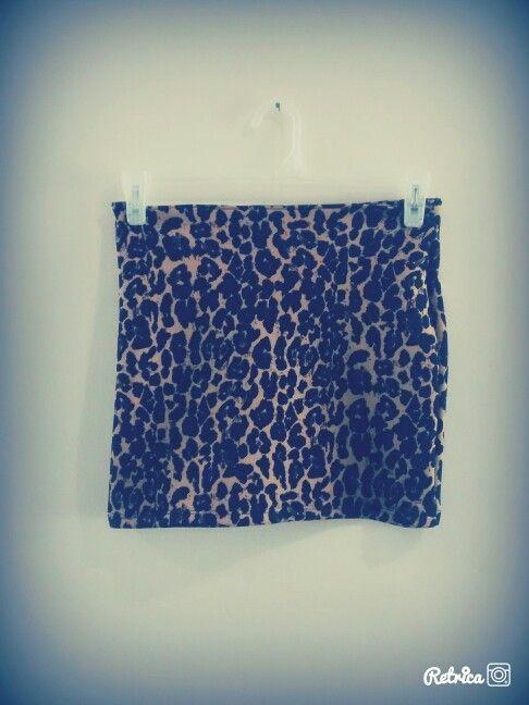 Pollera tubo animal print