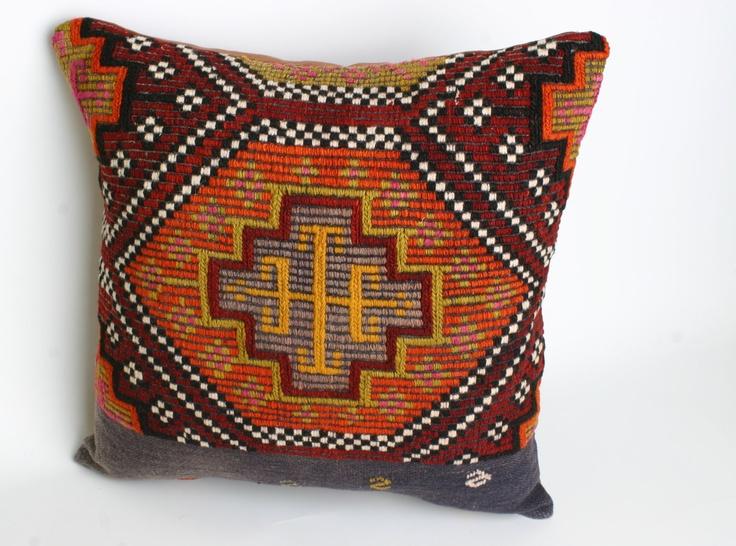 VINTAGE,Turks Handmade Kilim Pillow Case - 16x16. $82.50 ...