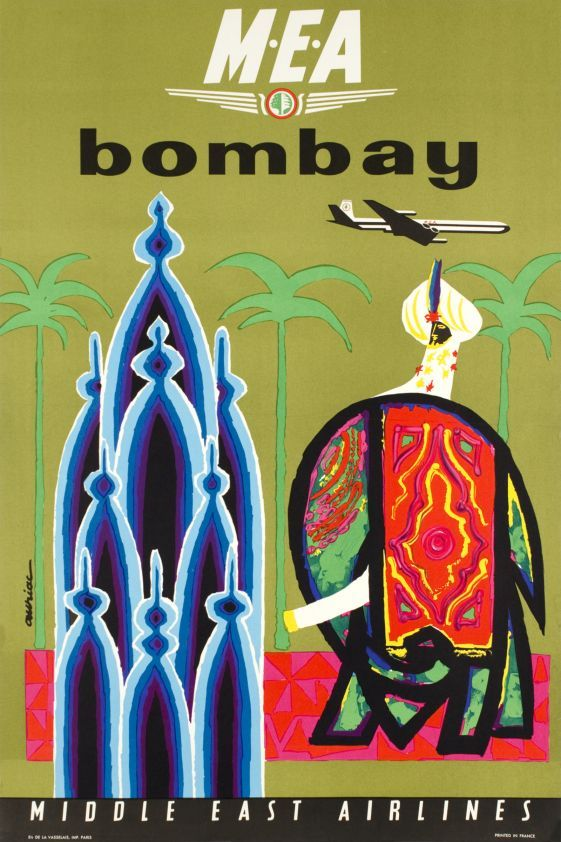 MEA, Middle East Airlines, Bombay