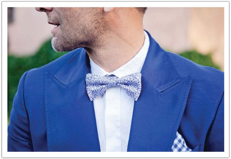 Details of the groom's suit and bow tie.  Photo by Claudine Grin, Design by Alchemy Fine Events.