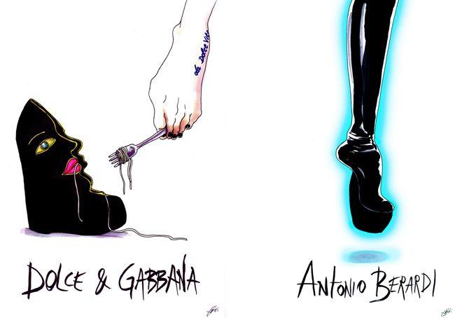 Dolce Gabbana and Antonio Berardi <3