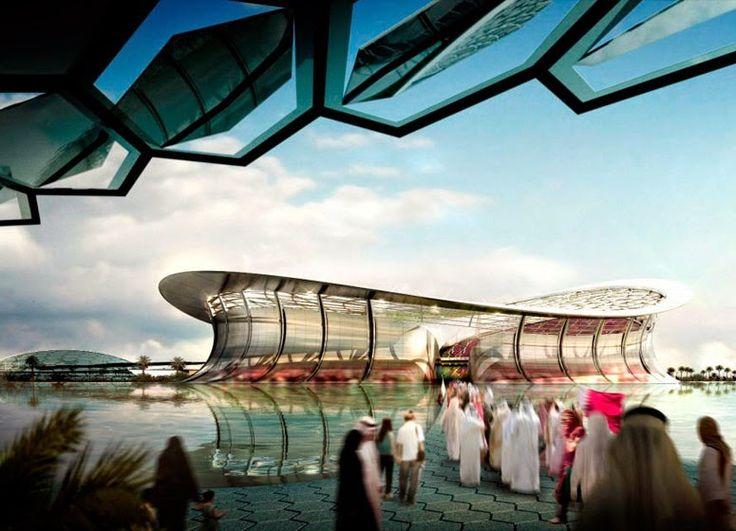 Imaginary World: Estadio de Iusail para la Copa Mundial de fútbol de Qatar 2022 diseñado por Foster + Partners