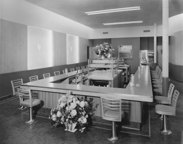 Interior Of Droll S English Grill With Lunch Counter And