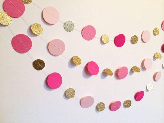 34 best images about gold polka dot baby shower on pinterest for Gold dot garland