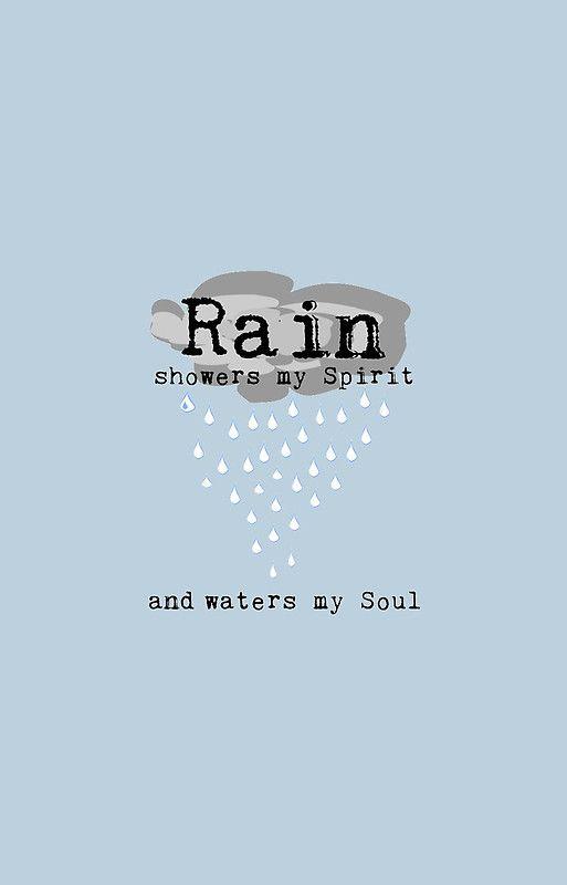 Rain Quote - Light Blue