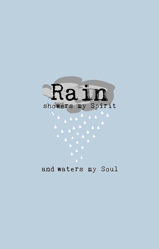 Rain Quote - Light Blue