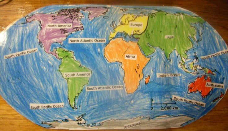 Images of world map with continents and oceans impremedia world map continents and oceans jaspers world map showing the continents and major oceans gumiabroncs Gallery