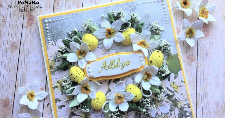 Wiem, wiem... Jest moda na foamiran...   ...a ja kocham papierowe kwiaty !!!!   Pokażę Wam, jak zrobiłam narcyzy do wielkanocnej kartki . ...