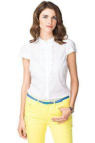 Jenny - Camicia a maniche corte - 100 - Camicie, di Tommy Hilfiger