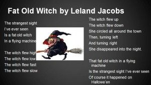 Fat Old Witch - poem on a Powerpoint