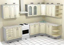 Угловой кухонный гарнитур Настя С2