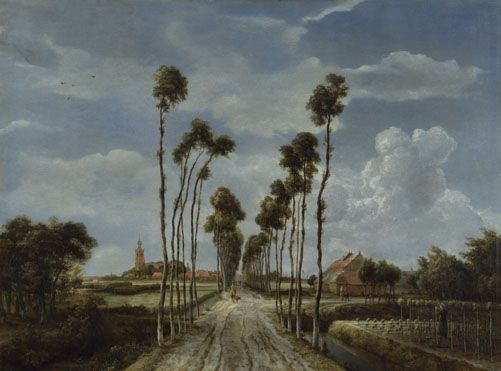 The Avenue at Middelharnis, 1689, Meindert Hobbema, oil on canvas, 103.5 cm. x 141 cm., National Gallery, London purchase 1871, South Holland.