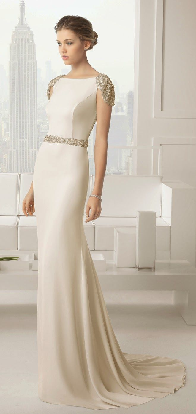 Simply elegant and quietly sophisticated - just beautiful.   Rosa Clara 2015 Bridal Collection - Belle the Magazine .