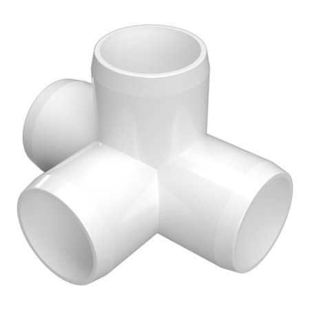 Formufit F1124wt Wh 4 4 Way Tee Pvc Fitting Furniture Grade 1 1 2 Inch Size White 4 Pack Products Furniture Grade Pvc Pvc Pipe Projects Pvc Projects