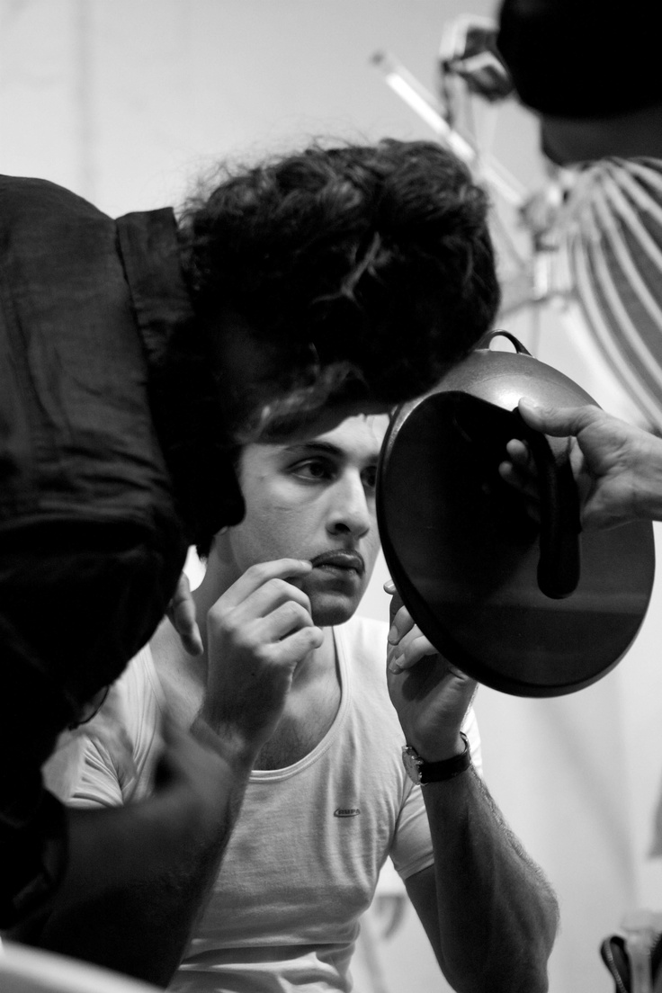 Ranbir Kapoor poses for the poster of his upcoming movie, Barfi!