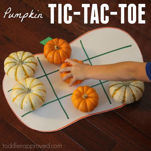 """Pumpkin Tic-Tac-Toe - this would be a great game for a room mom helping with a classroom Halloween party, or a great """"fun"""" center, OR a neat fall activity to do at home!!"""