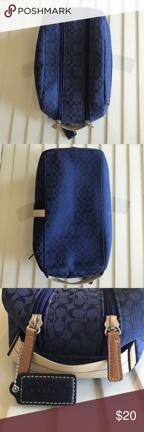 Authentic Coach Travel Bag Authentic Blue Coach Travel Bag. Makeup stains inside. Offers welcome. Coach Bags Travel Bags