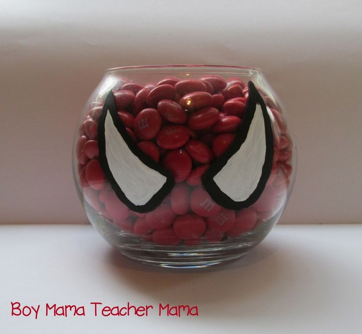 Red M & M's Boy Mama Teacher Mama  Spiderman Party 4.jpg