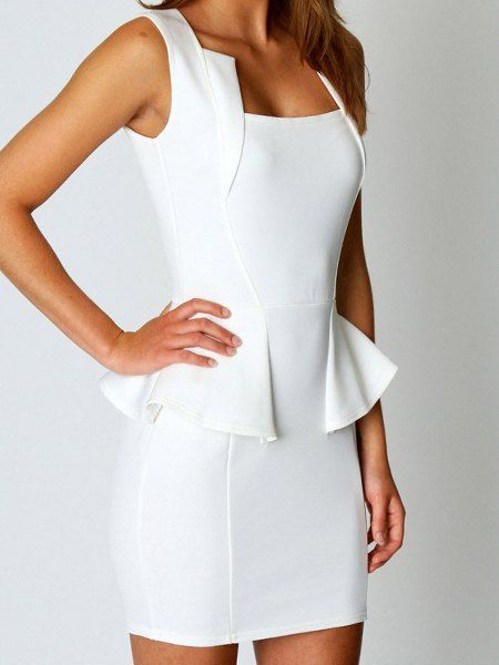 $14.06 Solid Color High Waist Sleeveless Dress For Women