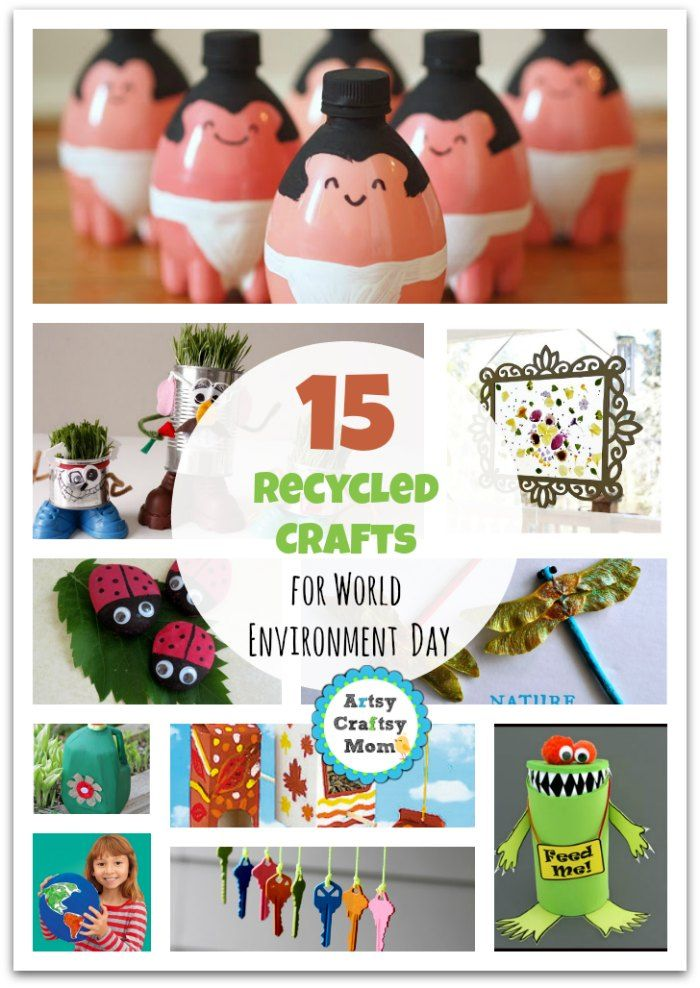 15 Recycled Crafts for World Environment Day 15 Recycled Crafts for World Environment Day photo