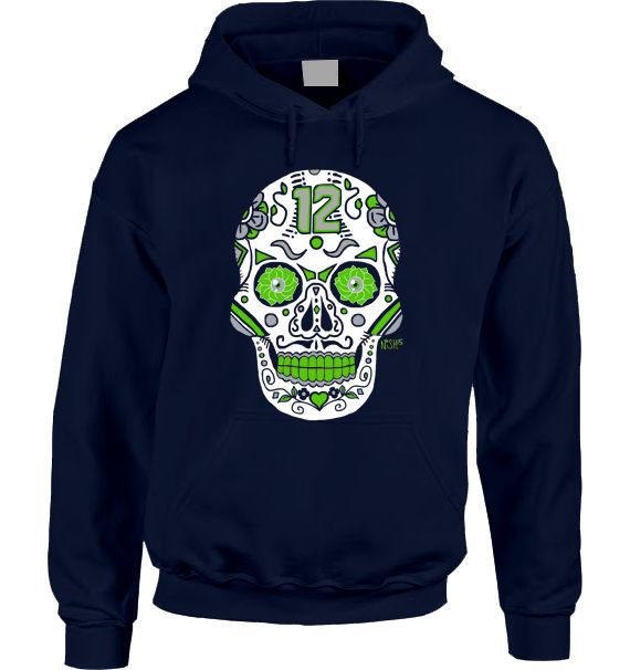 Seahawks Sugar Skull Hoodie – America's Finest Apparel